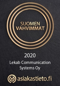 Suomen vahvimmat - Lekab Communication Systems Oy